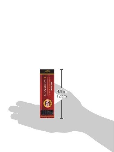Koh-I-Noor 5.6mm Lead 6 x Hard Black Gioconda Negro 120mm 4345 3