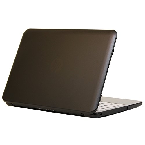 iPearl mCover Hard Shell Case for 11.6' HP Chromebook 11 G4 laptops ( part no. P0B78UT / P0B79UT ) (also compatible with previous G2 / G3 models) (Black)