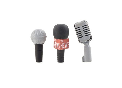Kikkerland Microphone Erasers, Set of 3 (ER47)