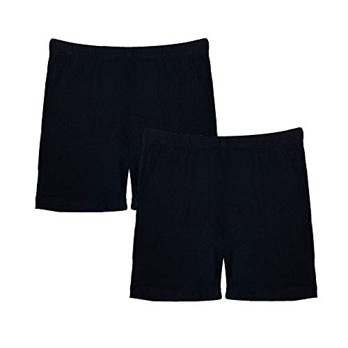 Popular Girl's Solid and Print Active Bike Shorts - 2 Pack - Solid Black - 7