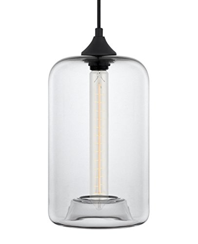 Clear Glass Square Pendant Light - 4