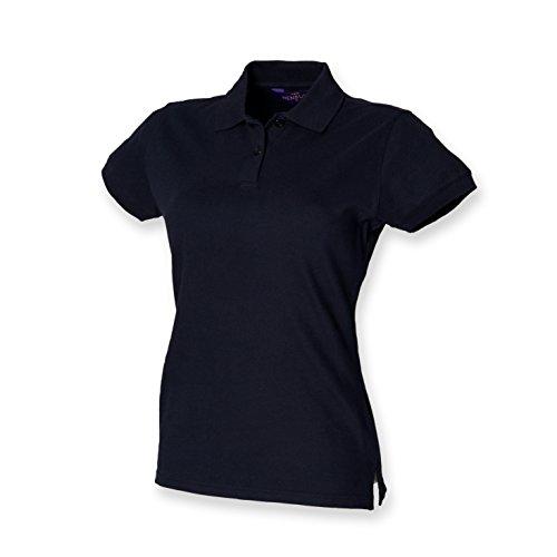 Henbury Ladies Stretch Pique Polo Shirt SIZE L/14 COLOUR Navy
