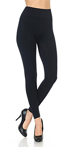 Same Mind INC Women's Ultra Soft Fabric Solid Color Casual Skinny Leggings