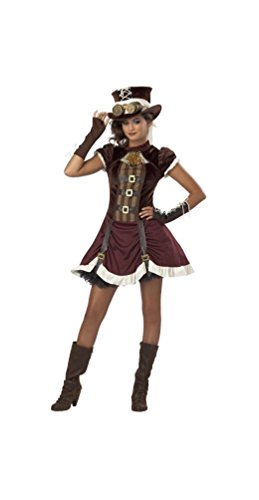Steampunk Costumes For Tweens (Steampunk Girl Tween Costume - Large)