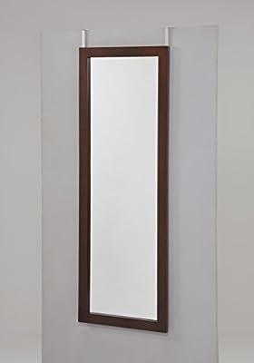 Espresso Finish Wooden Cheval Bedroom Wall Mount Mirror or Over the Door