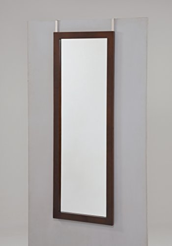 Espresso Finish Mirror (Espresso Finish Wooden Cheval Bedroom Wall Mount Mirror or Over the Door)