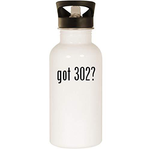 got 302? - Stainless Steel 20oz Road Ready Water Bottle, White