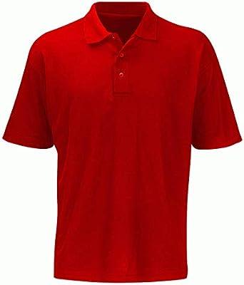 Fastrack PS180 Shispar - Polo (talla XS a 5XL), color rojo, rojo ...