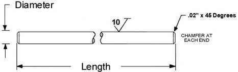 10 1//2 Precision Shafting