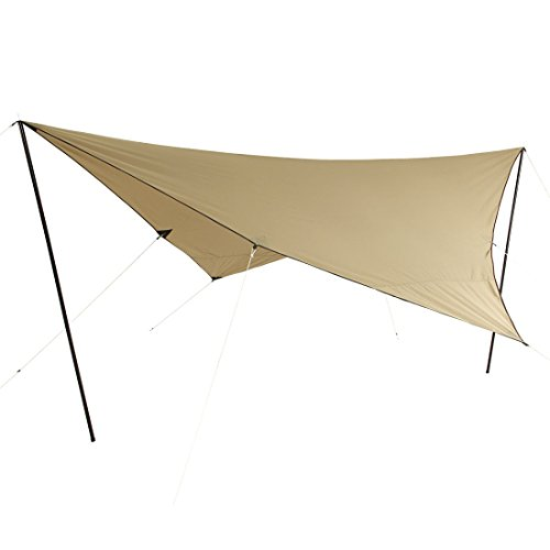 10T T/C Tarp 4x4 UV-50+ - sun awning, 400x400 cm with erection poles and pegs, 2000 mm, cotton blend