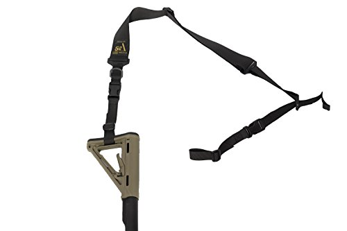 S2Delta - USA Made 2 Point Rifle Sling, Quick Adjustment, Modular Attachment Connections, Comfortable 2