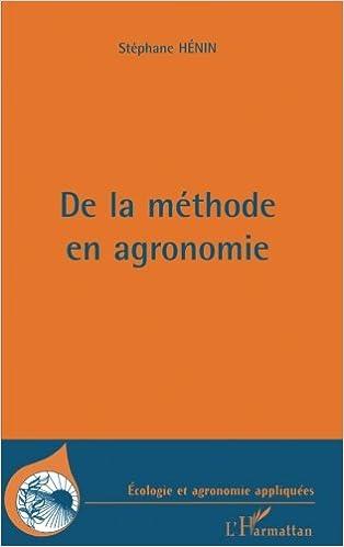 Book METHODE (DE LA) EN AGRONOMIE