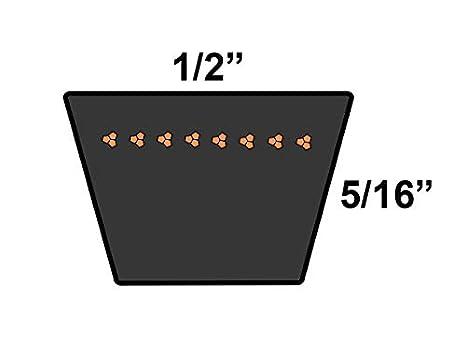 A//4L Belt Cross Section D/&D PowerDrive AC11514 Wayne Lawn Replacement Belt Rubber 45 Length