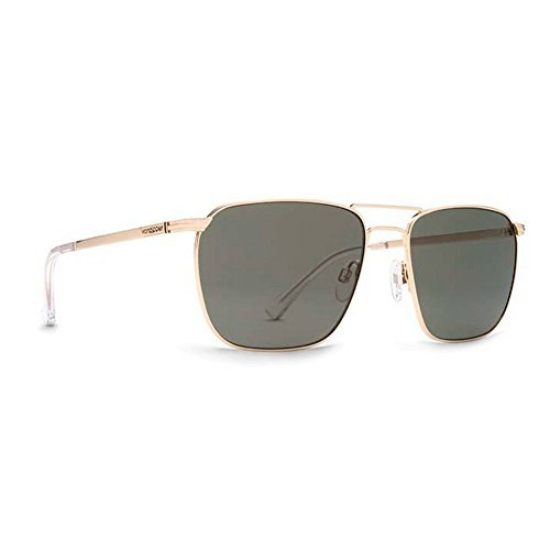 VonZipper Mens League Sunglasses, Gold w/Vintage Grey Lens, One - Glasses Vonzipper Sun