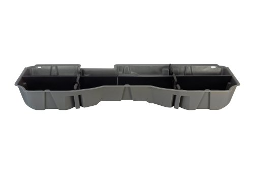 DU-HA Under Seat Storage Fits 14-17 Chevrolet/GMC Silverado/Sierra Light Duty & Heavy Duty Crew Cab, Gray, Part #10301