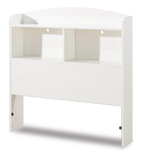 South Shore Logik Twin Bookcase Headboard, 39'', Pure White