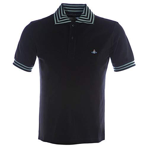 Vivienne Westwood Stripe Collar Polo Shirt in Black