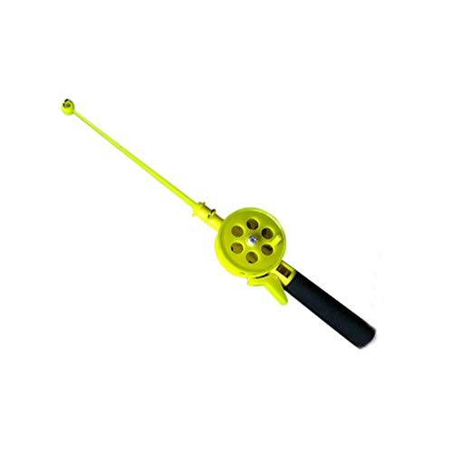 Gaweb Outdoor Kids Portable Ice Fishing Rod Plastic Pole with Reels Wheel Accessory