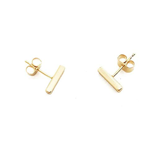 - HONEYCAT Midi Bar Stud Earrings in 24k Gold Plated | Minimalist, Delicate Jewelry (Gold)