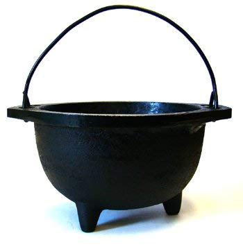 CircuitOffice Cast Iron Cauldron, for Smudging, Cone Incense, Granular Incense, Charcoal Incense, Rituals, Altars, Wicca, Pagan, Decorations or Gifts (6