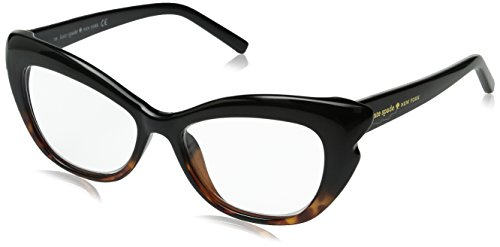 Kate Spade Women's Alva Cateye Readers, Black Tortoise Fade & Clear 1.0, 52 mm