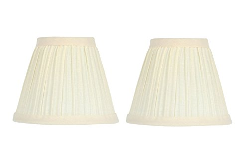 Upgradelights 5 Inch Clip On Mushroom Pleated Retro Drum Chandelier Lamp Shades - Height Mirrors Optimal To Next Bathroom For Sconces