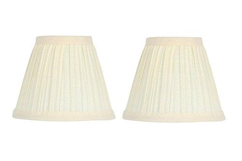 Upgradelights 5 Inch Clip On Mushroom Pleated Retro Drum Chandelier Lamp Shades -