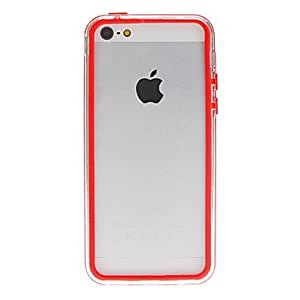 SHOUJIKE Solid Color Transparent Bumper Frame for iPhone 5C (Assorted Colors) , White