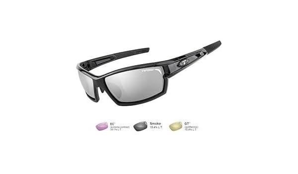 3b6a62999e7 Amazon.com   Tifosi Camrock Gloss Black Golf Interchangeable Sunglasses -  Smoke GT EC   Sports   Outdoors