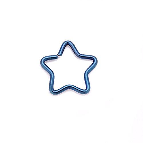 D'étoile 4youquality Piercing Forme En Bleu Acier Chirurgical rzUwXFqz