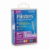 PIKSTERS - for cleaning between teeth-Size 1 (Purple)- 40Pk by erskineDENTAL