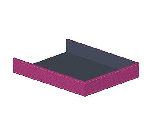 Home Décor Premium Executive Paper Tray Fuchsia Storage Durable Strong Decorative