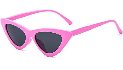 Clout Goggles Cat Eye Sunglasses Vintage Mod Style Retro Kurt Cobain Sunglasses (Pink& smoke, - Is Cool Sunglasses