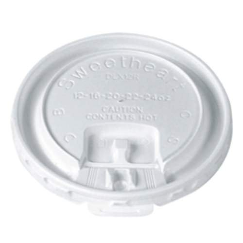 SOLO DLX12R-00007 White Plastic Trophy Liftback and Lock Tab Lid (Case of 2000)
