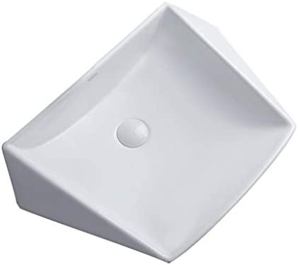 BoPin バスルームの洗面台、カウンタ流域上記の単純なセラミックは、(タップなし)バニティ単一流域シンク、60X42X11CM ベッセルシンクシンク (Size : 60X42X11cm)