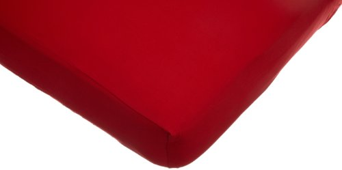 American Baby Company Supreme 100% Natural Cotton Jersey Knit Fitted Crib Sheet for Standard Crib and Toddler Mattresses, Red, Soft Breathable, for Boys and -