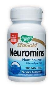 100 Mg Dha (Nature's Way Neuromins 100mg DHA, 60 Softgels)