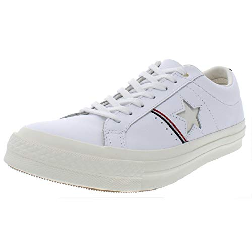 Converse Mens One Star OX Leather Low Top Casual Shoes White 8 Medium (D)