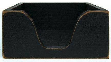 Primitive Wood Napkin Holder - Black by KP Creek Gifts