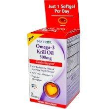 Natrol Omega-3 Huile de Krill 500 mg sgel, 30 Count