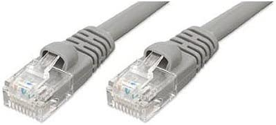 Cat5e Patch Cord Network Ethernet Cable 25 ft, gray