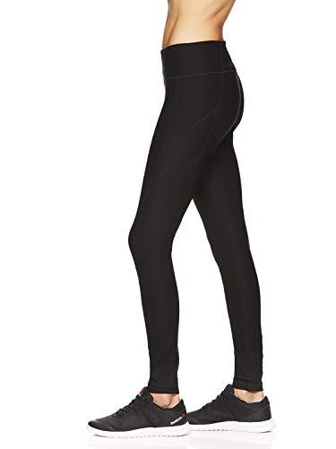 Reebok Women's Legging Full Length Performance Compression Pants - Black Seamed, Large