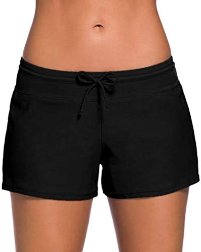 Women Solid Elastic Shorts Clearance Sale!