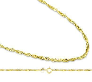 Mens Womens 14k Yellow Gold Necklace Twist Singapore Chain Solid 0.9 ... 42125a8572