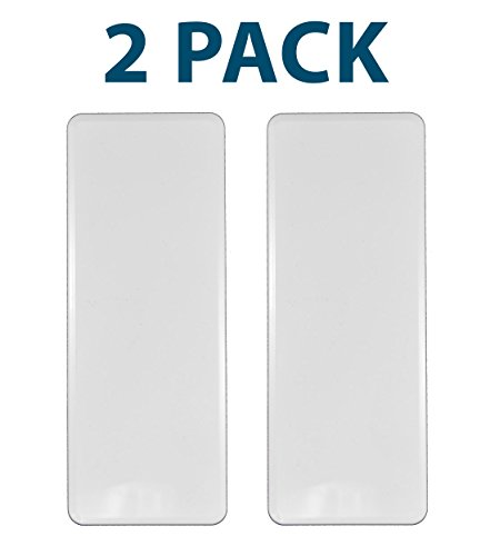 White PVC Vinyl 1.5 Inch X 5.5 Inch Fence Hole Cover | 2 Pack | (2 Hole Vinyl)