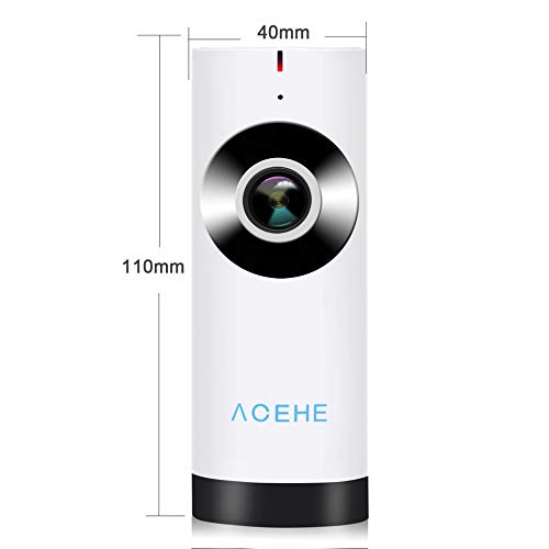 E.I.H. Panoramic Mini Baby Monitor ACEHE Wireless Camera Panoramic Mini Baby Monitor 720P HD Surveillance IP/Network/WiFi Security Camera with Night Vision by E.I.H. (Image #7)