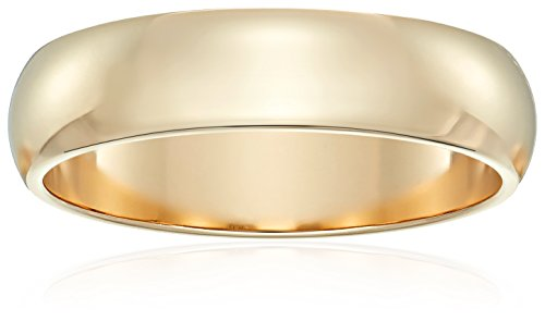 Classic Fit 10K Yellow Gold Band, 5mm, Size 12 by Amazon Collection