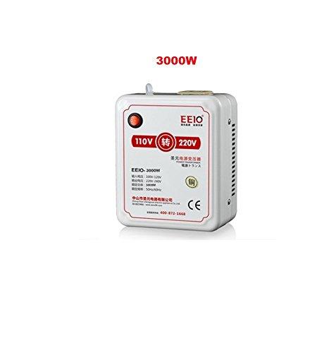 Heavy Duty 110V / 220V Step Up Voltage Transformer Adapter Voltage Converter (3000W) (110 Volt To 220 Volt Step Up Transformer)