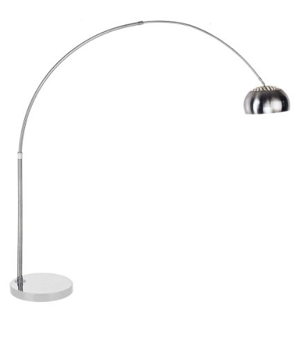 Stilnovo LS375B The The Arch City Floor Lamp -Carbon Steel, Marble, Silver
