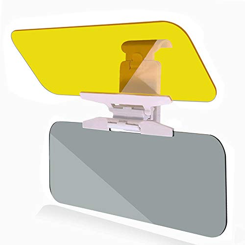 TURN RAISE Car Sun Visor Extender, Anti-Glare Car Visor - Night Anti-Glare Visor, Universal Sun Anti-UV Block Visor Non Glare Anti-Dazzle Sunshade Mirror Goggles Shield for Day and Night Driving